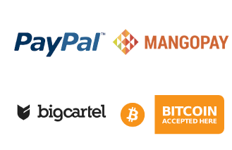 Screenshot of PayPal, Magento, Big Cartel and Bitcoin logos