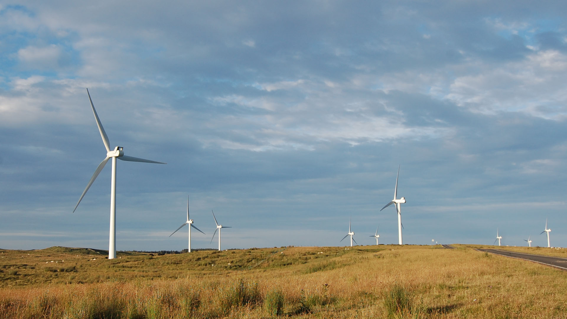 Fourlaw Rigg Windfarm Redesdale Tynedale Northumberland
