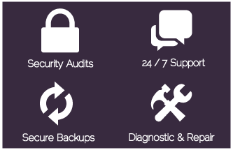 Hosting Support Services Icons